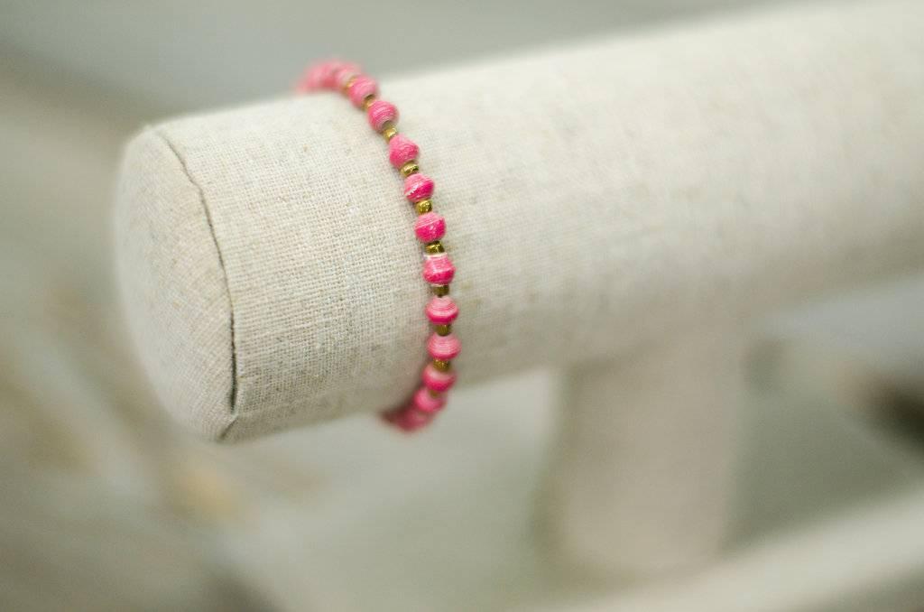 Single Strand Paper Bead Bracelets