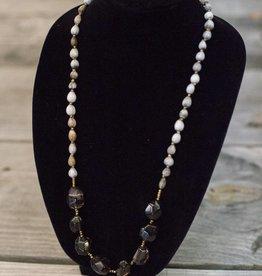Smoky Quartz seed necklace