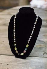 Green Garnet stone seed necklace