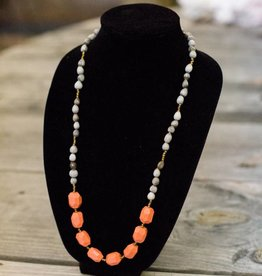 Coral seed necklace