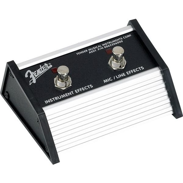 "Fender 2-Button Footswitch: Acoustasonic Jr. DSP, 1/4"" Connector"