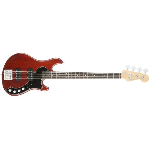 American Elite Dimension Bass IV HH, Rosewood Fingerboard, Cayenne Burst