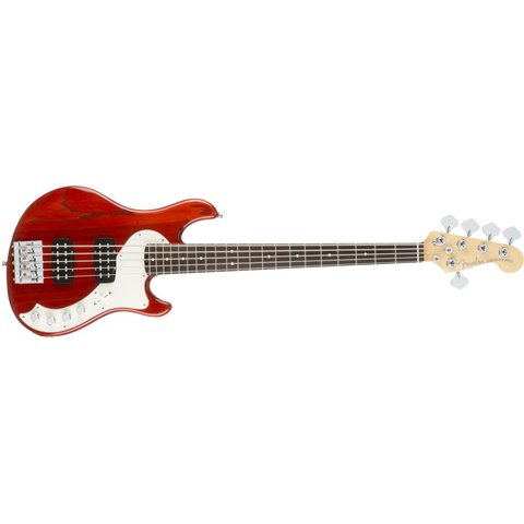 American Elite Dimension Bass V HH, Rosewood Fingerboard, Cayenne Burst
