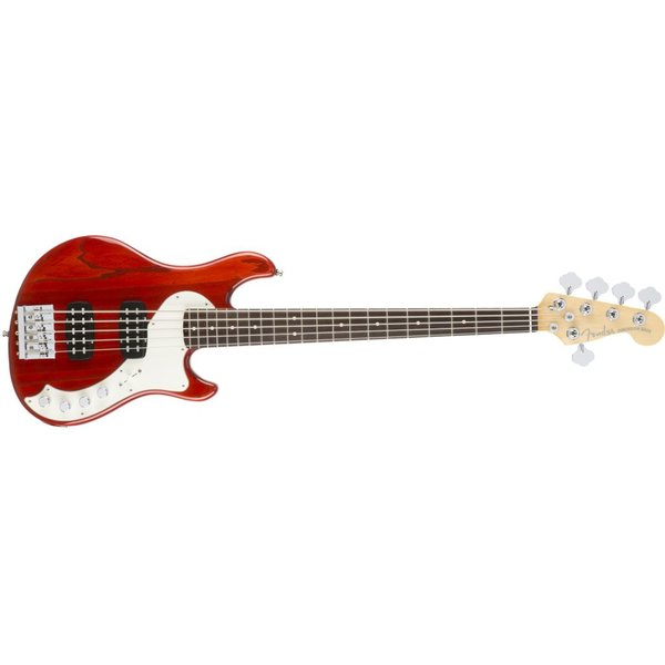 Fender American Elite Dimension Bass V HH, Rosewood Fingerboard, Cayenne Burst