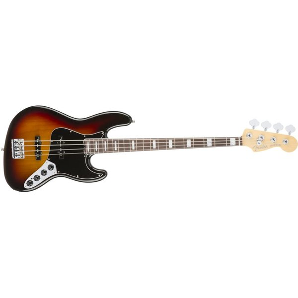Fender American Elite Jazz Bass, Rosewood Fingerboard, 3-Color Sunburst