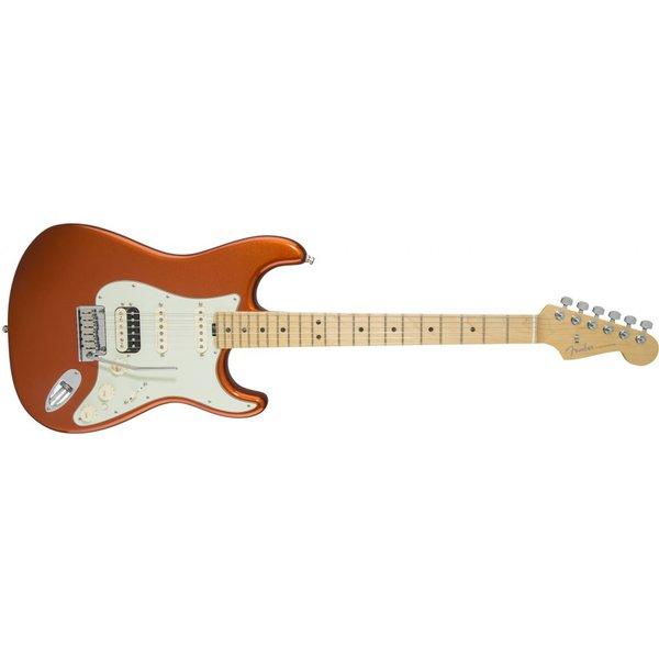 Fender American Elite Stratocaster HSS Shawbucker Maple Fingerbrd Autumn Blaze Metallic