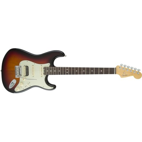 American Elite Stratocaster HSS Shawbucker Rosewood Fingerboard 3-Color Sunburst
