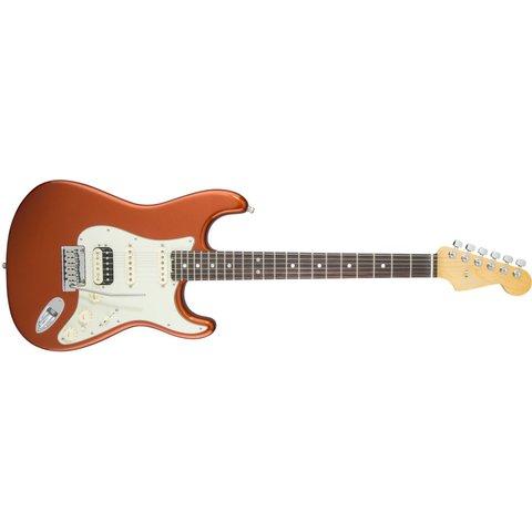 American Elite Stratocaster HSS Shawbucker, Rw Fingrbrd, Autumn Blaze Metallic