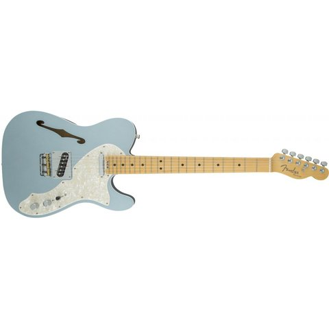 American Elite Telecaster Thinline, Maple Fingerboard, Mystic Ice Blue