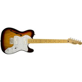 Squier Vintage Modified '72 Tele Thinline, Maple Fingerboard, 3-Color Sunburst