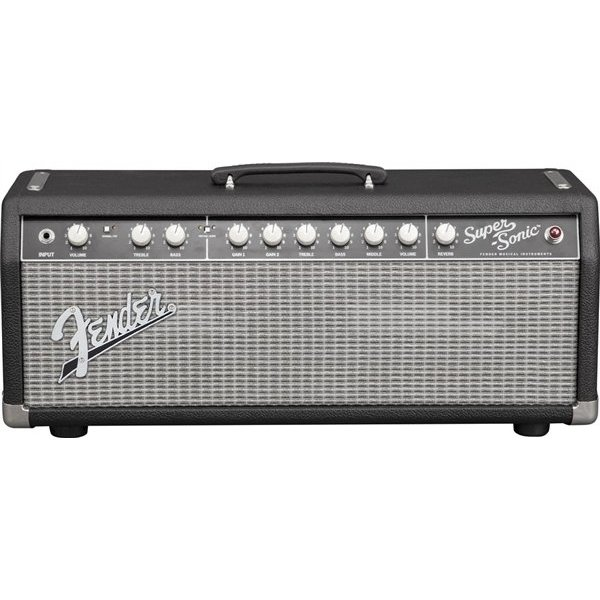 Fender Super-Sonic 22 Head, Black/Silver, 120V