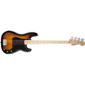 Squier Affinity Series Precision Bass w/ Fender Rumble 15 Amp, Brown Sunburst
