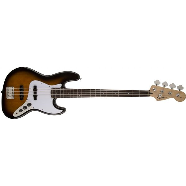 Squier Affinity Series Jazz Bass w/ Fender Rumble 15 Amp, Brown Sunburst