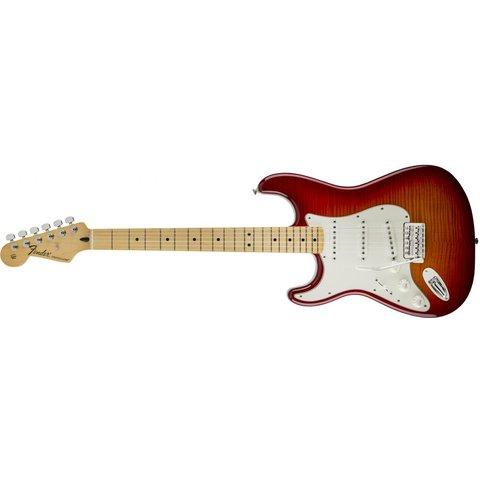 Standard Stratocaster Plus Top Left-Handed, Maple Fingerboard, Aged Cherry Burst