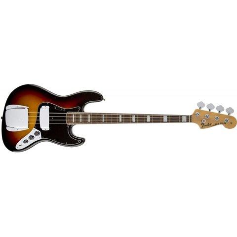American Vintage '74 Jazz Bass, Bound Round-Lam Rw Fngrbrd, 3-Color Sunburst