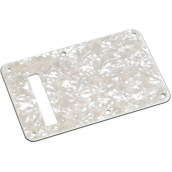 Fender Backplate, Stratocaster, Aged White Moto, 4-Ply
