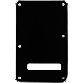 Fender Backplate, Stratocaster, Black (B/W/B), 3-Ply