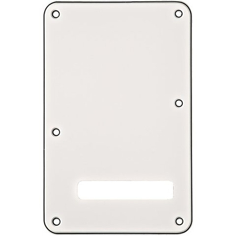 Backplate, Stratocaster, White (W/B/W), 3-Ply