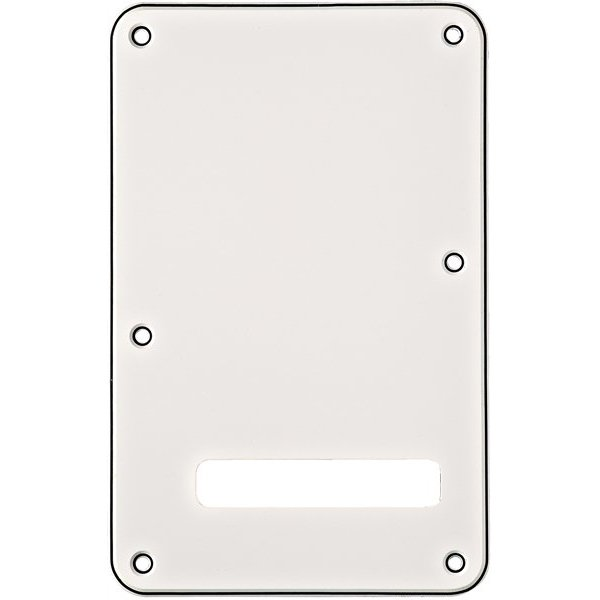 Fender Backplate, Stratocaster, White (W/B/W), 3-Ply