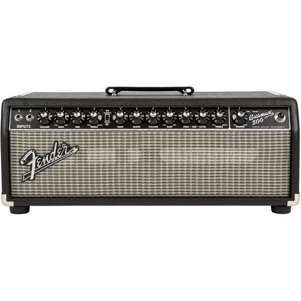 Fender Bassman 500 Head, 120V, Black/Silver