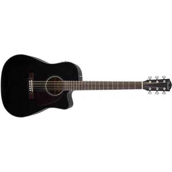 Fender CD-140SCE, Cutaway, Solid Spruce Top, Black Gloss