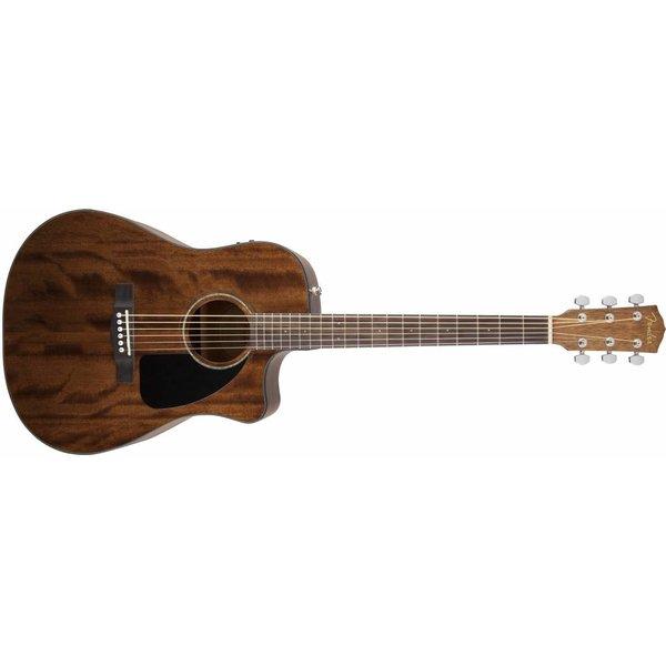 Fender CD-60CE All Mahogany, Natural, W/ Case