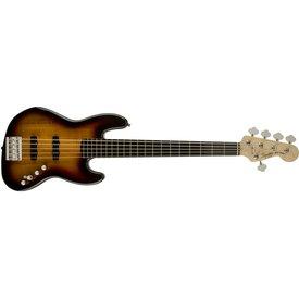 Squier Deluxe Jazz Bass V Active (5 String), Ebonol Fingerboard, 3-Color Sunburst