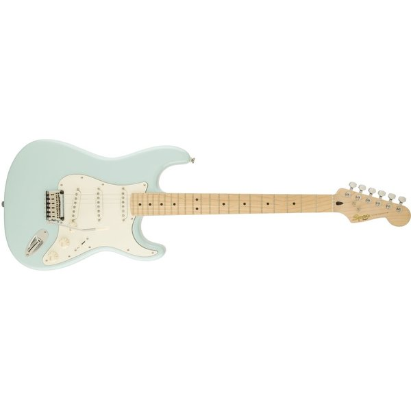 Squier Deluxe Stratocaster, Maple Fingerboard, Daphne Blue