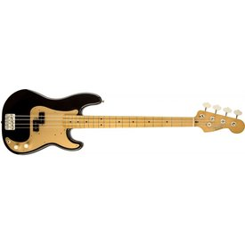 Fender Fender '50s Precision P Bass Black with Maple Fingerboard Gold Pickguard