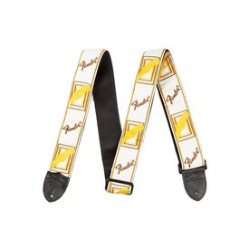 "Fender Fender 2"" Monogrammed Strap, White/Brown/Yellow"