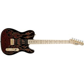 Fender James Burton Telecaster, Maple Fingerboard, Red Paisley Flames