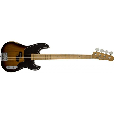 Mike Dirnt Road Worn Precision Bass, Maple Fingerboard, 3-Color Sunburst