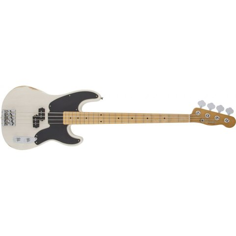 Mike Dirnt Road Worn Precision Bass, Maple Fingerboard, White Blonde
