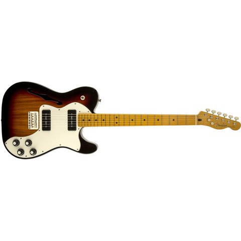 Modern Player Telecaster Thinline Deluxe, Maple Fingerboard, 3-Color Sunburst