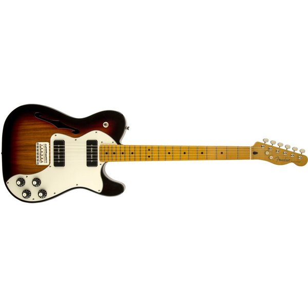 Fender Modern Player Telecaster Thinline Deluxe, Maple Fingerboard, 3-Color Sunburst