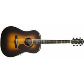 Fender PM-1 Deluxe Dreadnought, Ebony Fingerboard, Vintage Sunburst