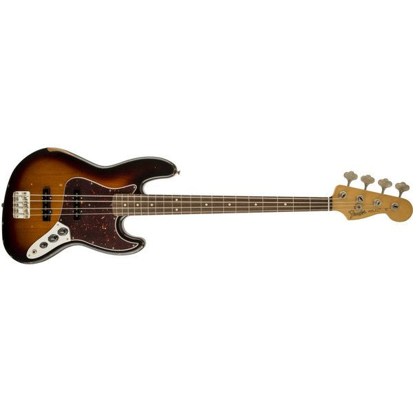 Fender Road Worn '60s Jazz Bass, Rosewood Fingerboard, 3-Color Sunburst