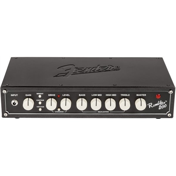 Fender Rumble 200 Head (V3), 120V, Metallic Black