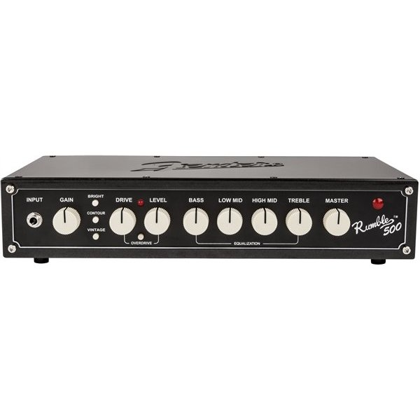 Fender Rumble 500 Head (V3), 120V, Metallic Black