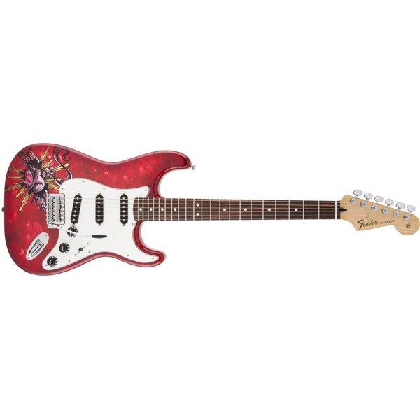 Fender Special Edition David Lozeau Art Stratocaster Rosewood Fingerboard Sacred Heart
