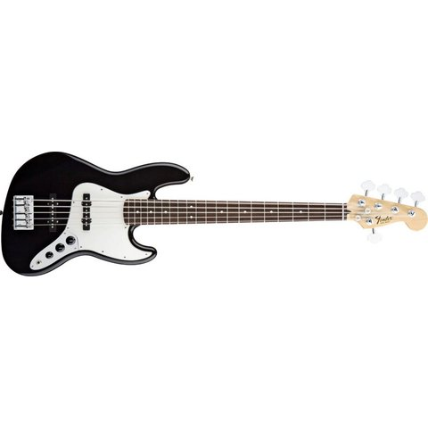 Standard Jazz Bass V (Five String), Rosewood Fingerboard, Black