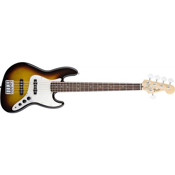 Fender Standard Jazz Bass V (Five String), Rosewood Fingerboard, Brown Sunburst