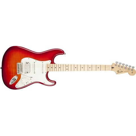Standard Stratocaster HSS Plus Top, Maple Fingerboard, Aged Cherry Burst
