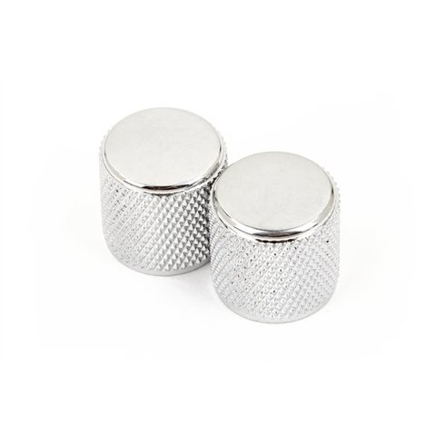 Telecaster/Precision Bass Knobs, Knurled Chrome ((2))
