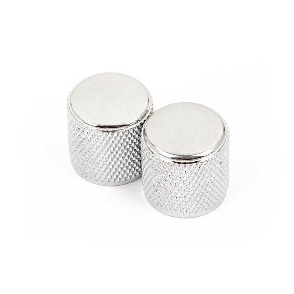 Fender Telecaster/Precision Bass Knobs, Knurled Chrome ((2))