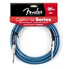 Fender California Instrument Cable, 20', Lake Placid Blue