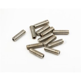 "Fender Standard Bass Bridge Saddle Height Adjustment Screws 6-32 X 7/16"" Hex Nickel 12"