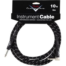 Fender Fender Custom Shop Performance Series Cable, 10', Black, Angled