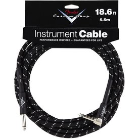 Fender Fender Custom Shop Performance Series Cable, 18.6', Black, Angled