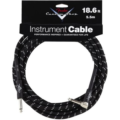 Fender Custom Shop Performance Series Cable, 18.6', Black, Angled